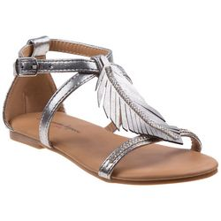 Nanette Lepore Girls Leaf Detail Sandals