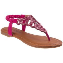 Girls Rhinestone Slingback Sandals