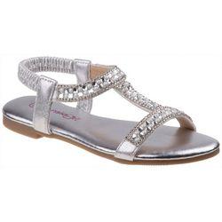 Kensie Girl Girls Rhinestone & Pearl Sandals