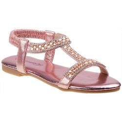 Girls Rhinestone & Pearl Sandals