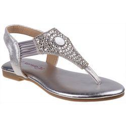 Kensie Girl Girls Rhinestone Thong Sandals