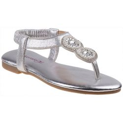 Kensie Girl Girls Pearl & Jewel Thong Sandals