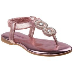 Girls Pearl & Jewel Thong Sandals