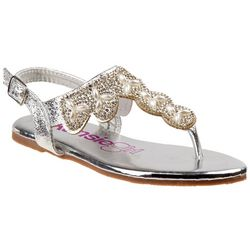 Kensie Girl Girls Bead & Pearl Thong Sandals