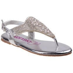 Kensie Girl Girls Floral Pearl Detail Sandals