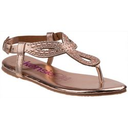 Kensie Girl Girls Clover Glitter Sandals