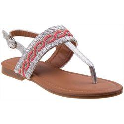 Kensie Girl Girls Bead & Braid Detail Sandals