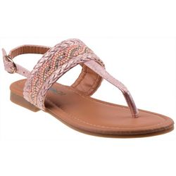 Girls Bead & Braid Detail Sandals