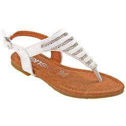 Kensie Girl Girls Beaded Striped Sandals