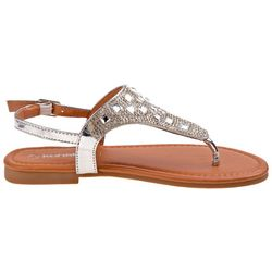 Girls Jeweled Thong Sandals