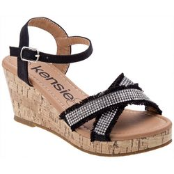 Girls Embellished Wedge Sandals