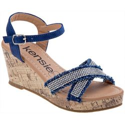 Kensie Girl Girls Embellished Wedge Sandals
