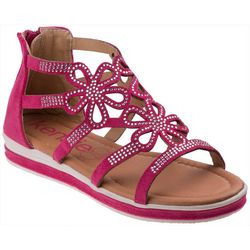 Girls Floral Cut-Out Sandals