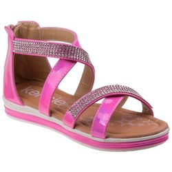 Girls Strappy Embellished Sandals
