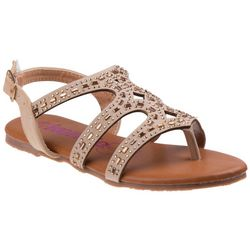 Girls Embellished Cut-Out Sandals