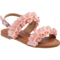 Laura Ashley Toddler Girls Ruffle Sandals