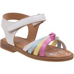 Laura Ashley Toddler Girls Rainbow Sandals