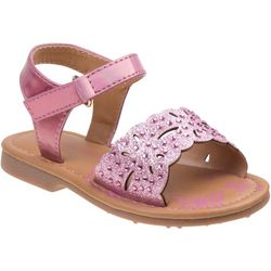 Laura Ashley Toddler Girls Scallop Glitter Sandals