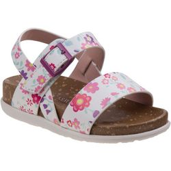 Laura Ashley Toddler Girls Floral Print Sandals