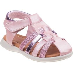 Laura Ashley Toddler Girls Glitter Detail Sandals