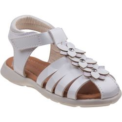 Laura Ashley Toddler Girls Floral Peep Toe Sandals