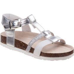 Laura Ashley Girls Glitter T-Strap Sandals