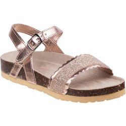 Laura Ashley Girls Glitter Scallop Sandals
