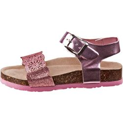 Laura Ashley Toddler Girls Glitter Cut-Out Sandals
