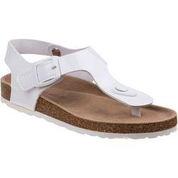 Laura Ashley Girls T-Strap Cork Sandals