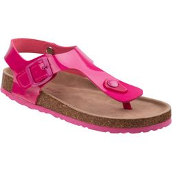 Laura Ashley Girls T-Strap Cork Sandals