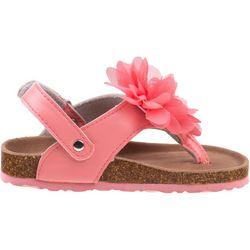 Laura Ashley Toddler Girls Floral Thong Sandals