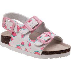 Laura Ashley Toddler Girls Watermelon Sandals