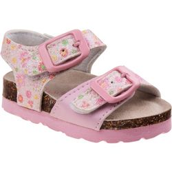 Laura Ashley Toddler Girls Floral Double Buckle Sandals