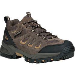 Propet USA Mens RidgeWalker Low Brown Shoes