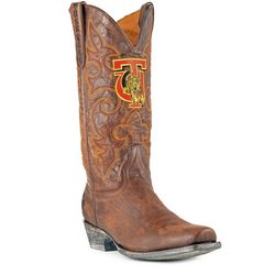 Gameday Tuskegee Golden Tigers Mens Cowboy Boots