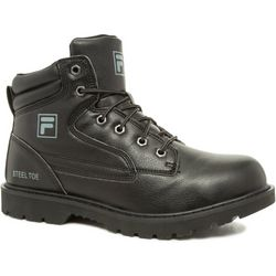 Fila Mens Landing Steel Black Work Boots