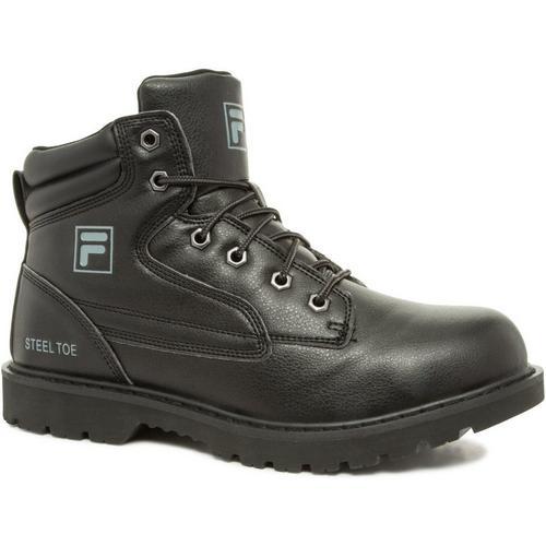 64db0d5f47 Fila Mens Landing Steel Black Work Boots