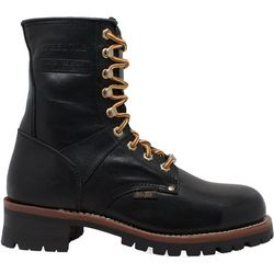 Mens 9'' Steel Toe Logger Boots