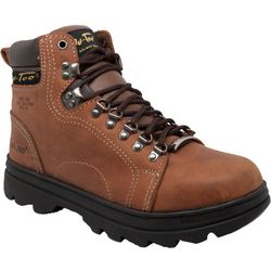 Mens 6'' Brown Steel Toe Hiking Boots