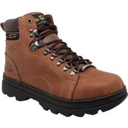 Mens 6'' Brown Steel Toe Hiking Boots