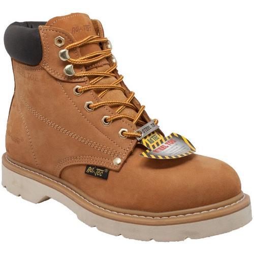 751e6b4de0a AdTec Mens 6'' Tan Steel Toe Work Boots