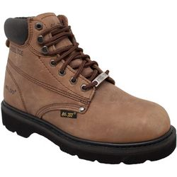 AdTec Mens Brown Steel Toe Work Boots