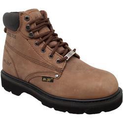 Mens Brown Steel Toe Work Boots