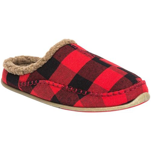 f7ac75b70a9904 Deer Stags Mens Slipperooz Nordic Flannel Slippers