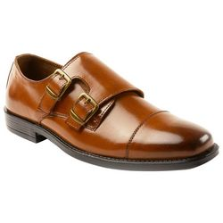 Deer Stags Mens Colin Twin Buckle Cap-Toe Shoes