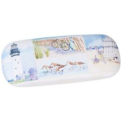 Cape Shore Womens Beach Collage Print Eyewear Case