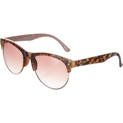 Nine West Womens Semi Rimless Brown Sunglasses