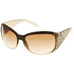 Bay Studio Womens Rectangular Wrap Sunglasses