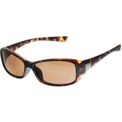 Dockers Womens Brown Rectangle Sunglasses