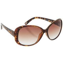 Dockers Womens Tortoise Brown Rounded Sunglasses